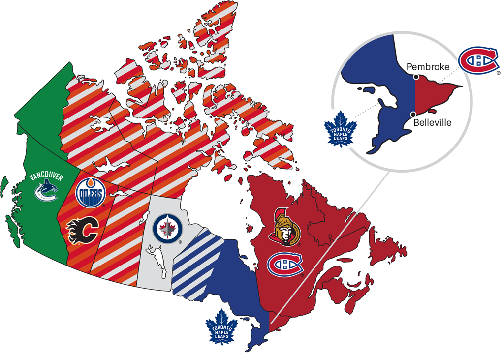 Regional Map Of Canada.Nhl Blackouts Can Be Confusing We Understand Learn More Here