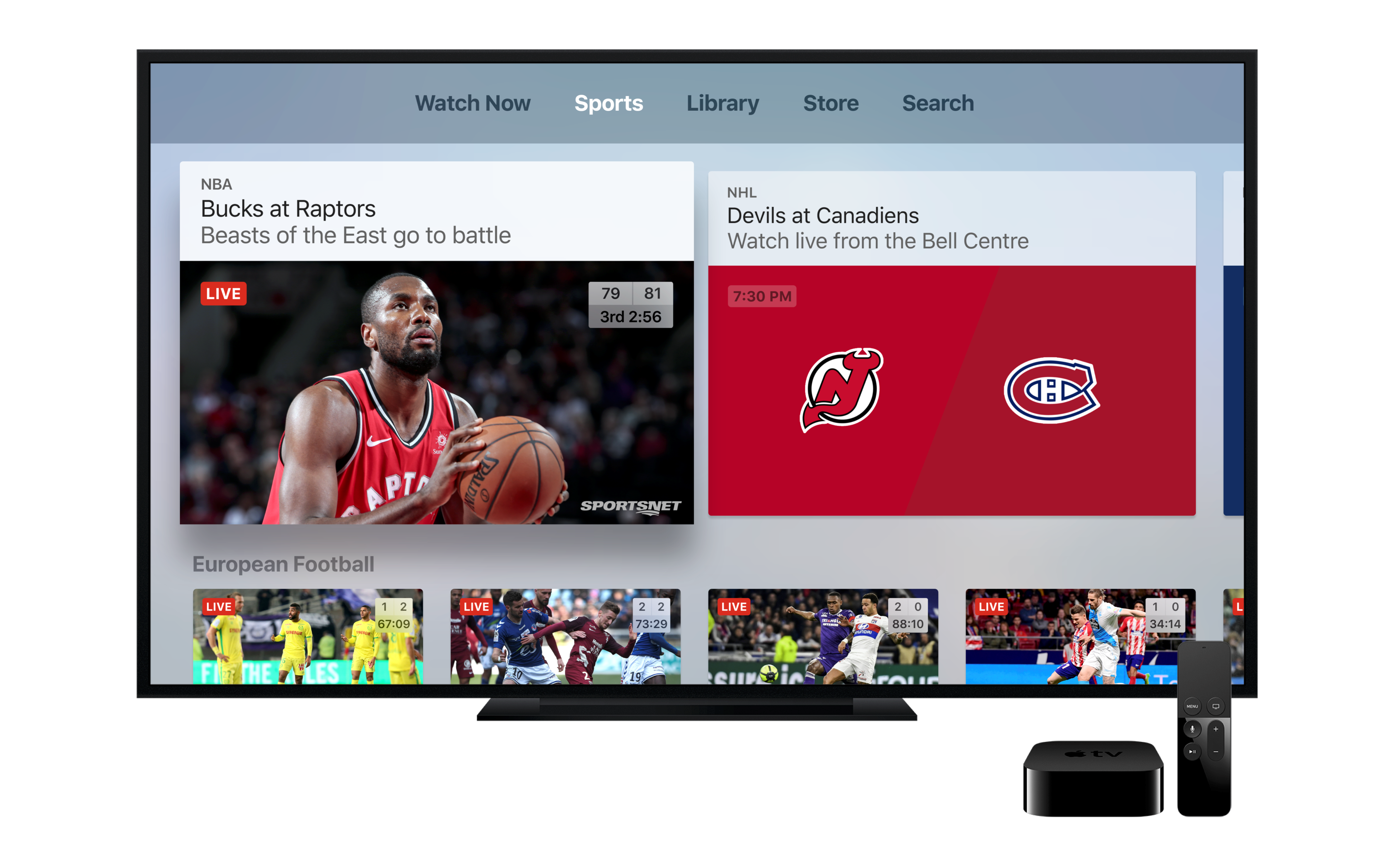 Sportsnet NOW is available through the Apple TV App