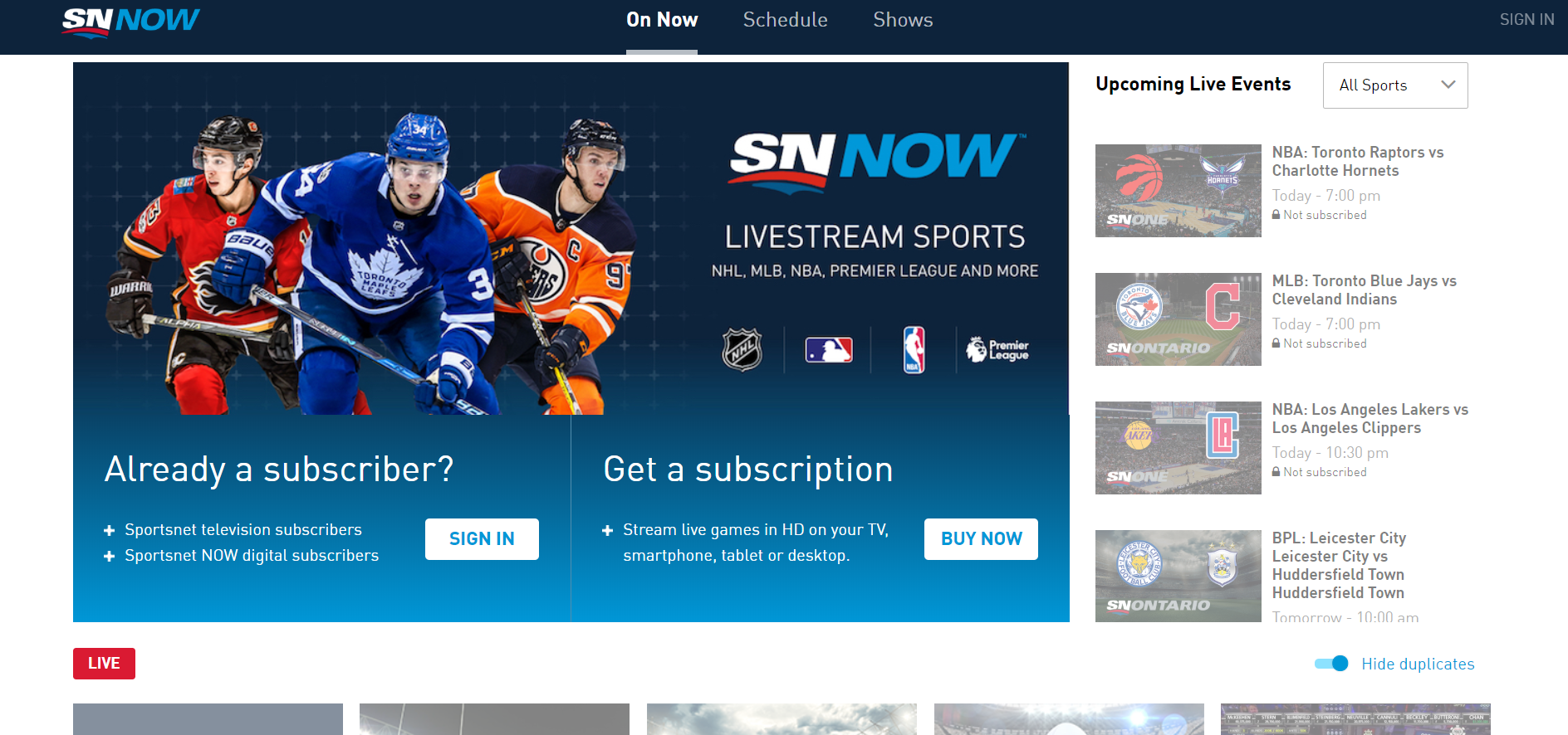 Stuck? How to successfully sign in to Sportsnet NOW